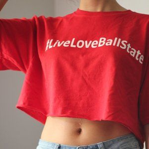 Ball State University DIY Cropped T-Shirt